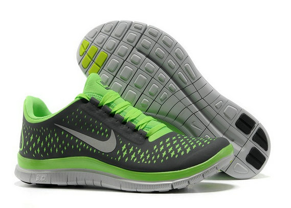Nike Free 3.0 V4 Mens Running Shoe Dark Grey Electric Green Wolf Grey On VaporMaxRunning