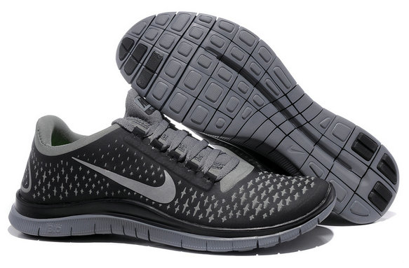 Nike Free 3.0 V4 Mens Running Shoe Grey Silver Black On VaporMaxRunning