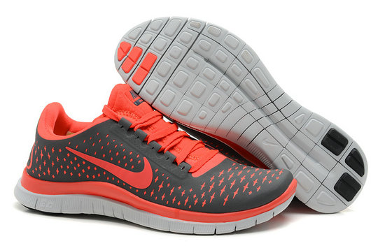 Nike Free 3.0 V4 Womens Running Shoe Carb On Gray PeachblowOn VaporMaxRunning