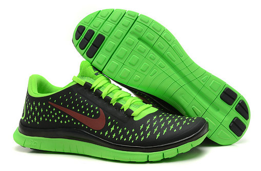 Nike Free 3.0 V4 Womens Running Shoe Coal Black Fluorescence Green On VaporMaxRunning
