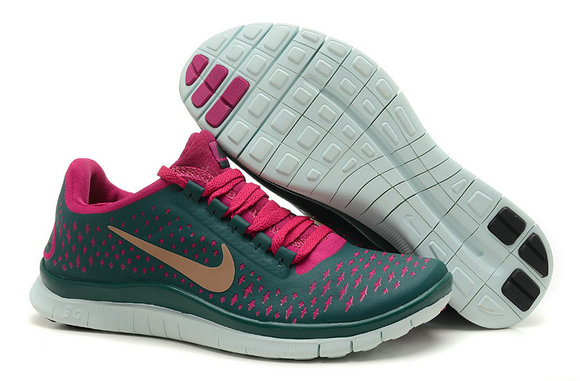 Nike Free 3.0 V4 Womens Running Shoe Dark Green Peachblow On VaporMaxRunning