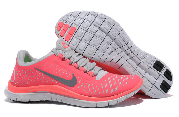 Nike Free 3.0 V4 Womens Running Shoe Hot Punch Reflectiv Silver White On VaporMaxRunning