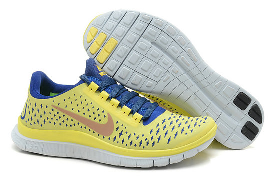 Nike Free 3.0 V4 Womens Running Shoe Lem On Yellow BlueOn VaporMaxRunning