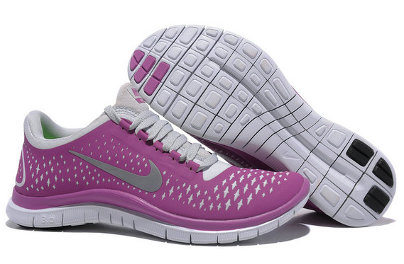 Nike Free 3.0 V4 Womens Running Shoe Magenta Violet Wash Gray On VaporMaxRunning