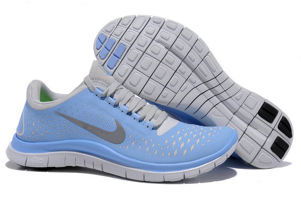 Nike Free 3.0 V4 Womens Running Shoe Prism Blue Reflective Silver Sail On VaporMaxRunning