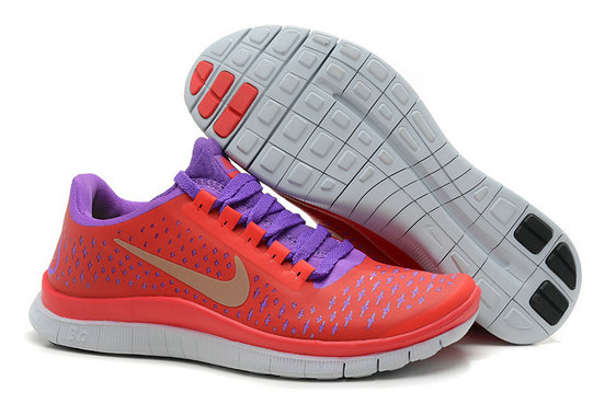 Nike Free 3.0 V4 Womens Running Shoe Red Purple On VaporMaxRunning