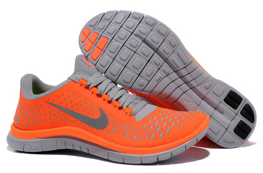 Nike Free 3.0 V4 Womens Running Shoe Total Orange Reflect Silver Wolf Grey On VaporMaxRunning