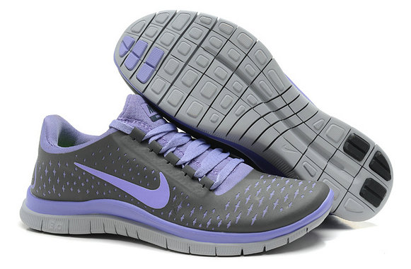 Nike Free 3.0 V4 Womens Running Shoe Wolf Gray Purple On VaporMaxRunning