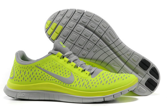 Nike Free 3.0 V4 Womens Running Shoe Wolf Grey Electric Yellow On VaporMaxRunning