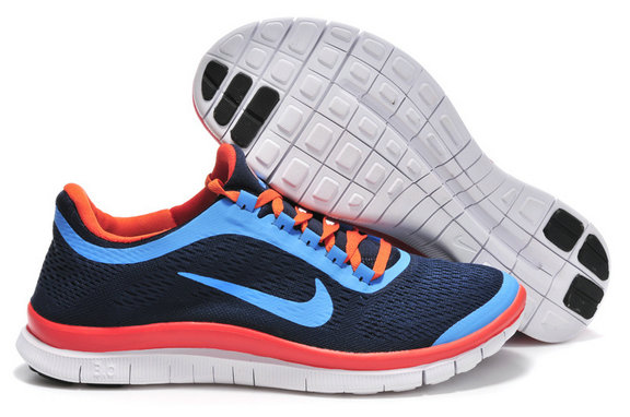 Nike Free 3.0 V5 Mens Dark Blue Jade Orange Running Shoes On VaporMaxRunning