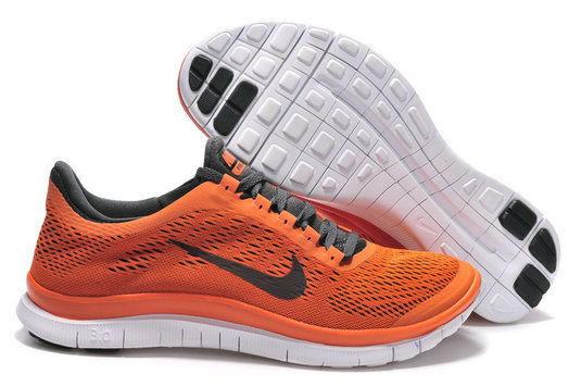 Nike Free 3.0 V5 Mens Orange Black Running Shoes On VaporMaxRunning