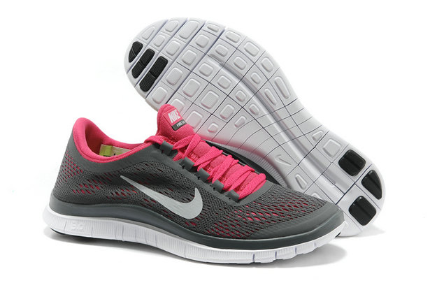 Nike Free 3.0 V5 Womens Gray Pink Running Shoes On VaporMaxRunning