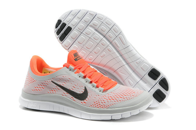 Nike Free 3.0 V5 Womens Light Gray Orange Running Shoes On VaporMaxRunning