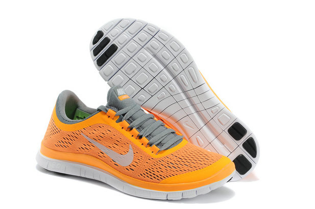 Nike Free 3.0 V5 Womens Orange Gray Running Shoes On VaporMaxRunning