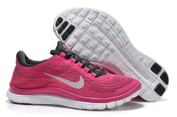 Nike Free 3.0 V5 Womens Rose Red Black Running Shoes On VaporMaxRunning
