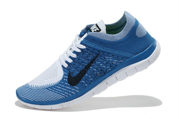 Nike Free 4.0 Flyknit Men Blue White Black On VaporMaxRunning