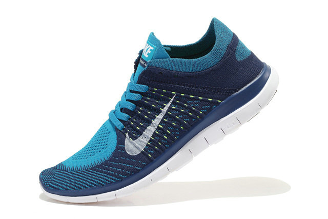 Nike Free 4.0 Flyknit Men Deep Blue Blue White On VaporMaxRunning