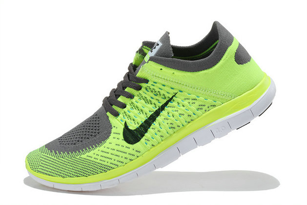 Nike Free 4.0 Flyknit Men Fluorescent Green Grey On VaporMaxRunning