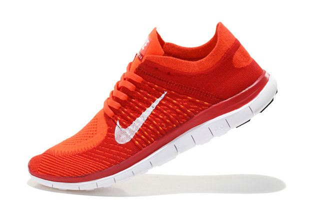 Nike Free 4.0 Flyknit Men Red Orange White On VaporMaxRunning