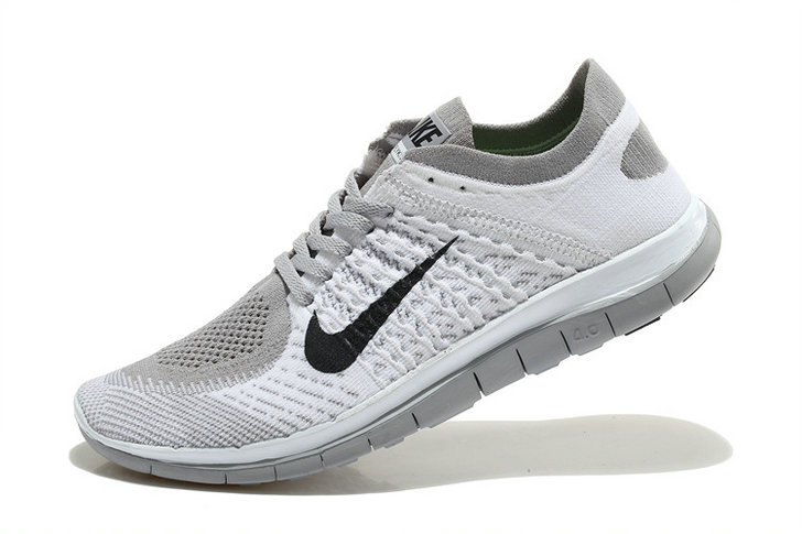 Nike Free 4.0 Flyknit Men White Grey Black On VaporMaxRunning