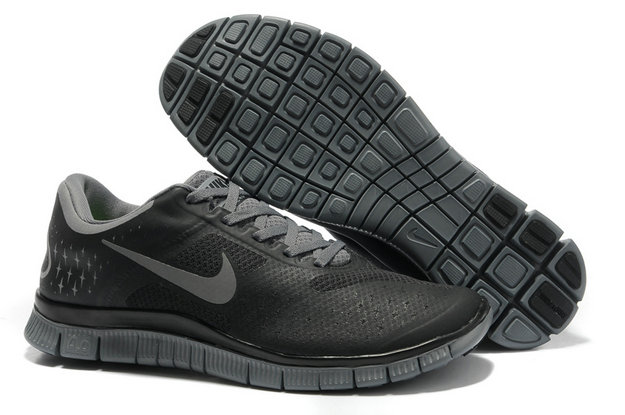 Nike Free 4.0 V2 Mens Running Shoe Black Gray On VaporMaxRunning