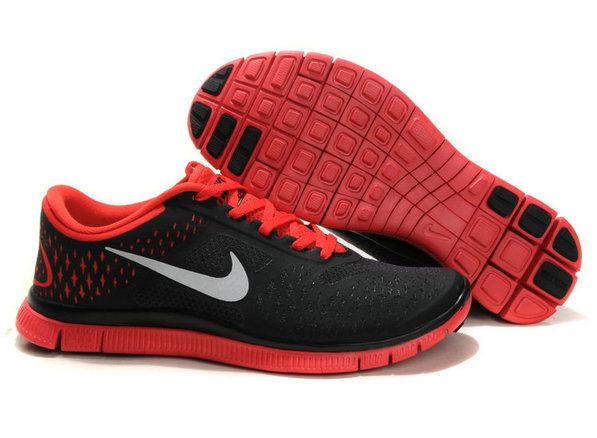 Nike Free 4.0 V2 Mens Running Shoe Black Red On VaporMaxRunning