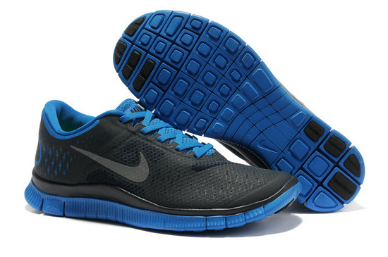 Nike Free 4.0 V2 Mens Running Shoe Black Royalblue On VaporMaxRunning