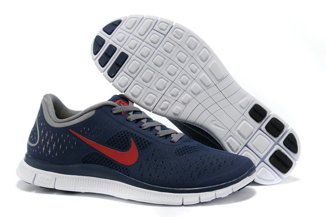 Nike Free 4.0 V2 Mens Running Shoe Dark Blue Red On VaporMaxRunning