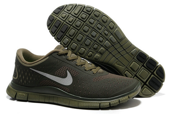 Nike Free 4.0 V2 Mens Running Shoe Gray Army Green On VaporMaxRunning