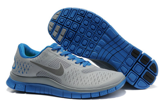 Nike Free 4.0 V2 Mens Running Shoe Gray Blue On VaporMaxRunning