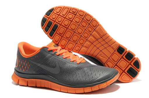 Nike Free 4.0 V2 Mens Running Shoe Gray Orange On VaporMaxRunning