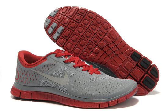 Nike Free 4.0 V2 Mens Running Shoe Gray Red On VaporMaxRunning