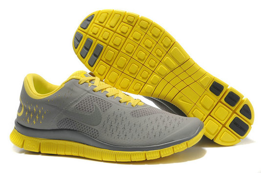 Nike Free 4.0 V2 Mens Running Shoe Gray Yellow On VaporMaxRunning