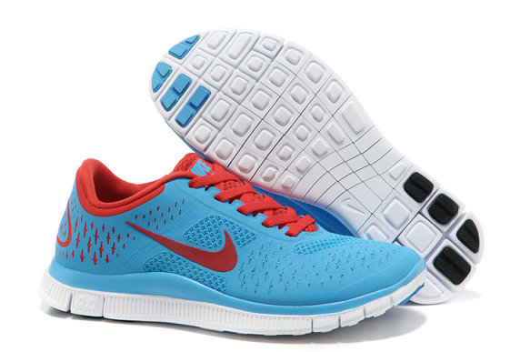 Nike Free 4.0 V2 Womens Running Shoe Blue Red On VaporMaxRunning