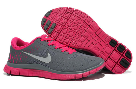 Nike Free 4.0 V2 Womens Running Shoe Dark Gray Peachblow On VaporMaxRunning