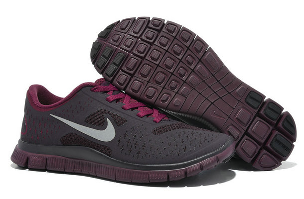 Nike Free 4.0 V2 Womens Running Shoe Dark Purple Wine Red On VaporMaxRunning