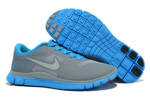 Nike Free 4.0 V2 Womens Running Shoe Gray Blue On VaporMaxRunning