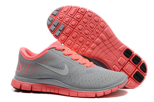 Nike Free 4.0 V2 Womens Running Shoe Gray Pink On VaporMaxRunning