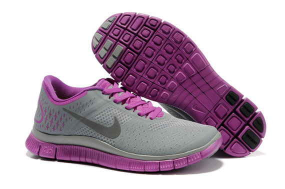 Nike Free 4.0 V2 Womens Running Shoe Gray Purple On VaporMaxRunning