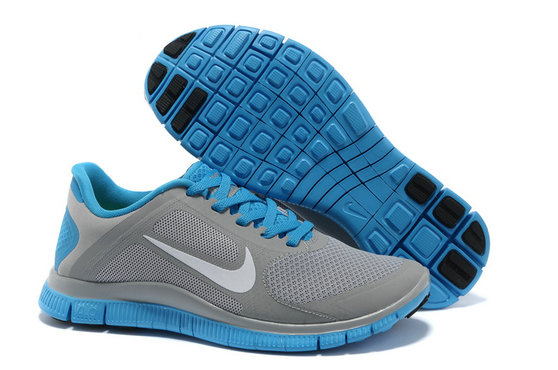 Nike Free 4.0 V3 Women Light Grey Blue On VaporMaxRunning