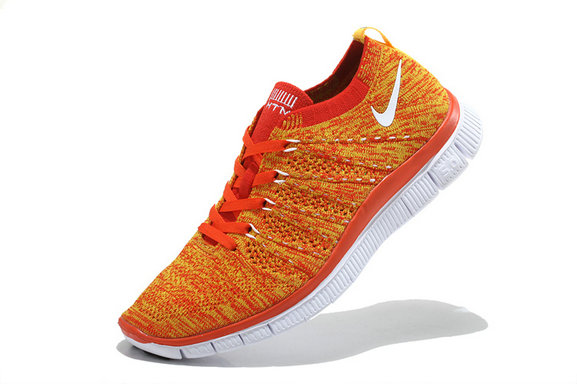 Nike Free 5.0 Flyknit  Women Orange White On VaporMaxRunning