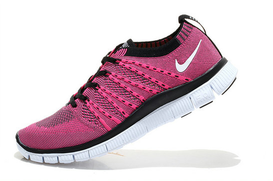 Nike Free 5.0 Flyknit  Women Pink Black White On VaporMaxRunning