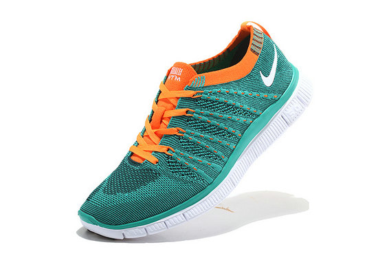 Nike Free 5.0 Flyknit Women Blue Orange White On VaporMaxRunning
