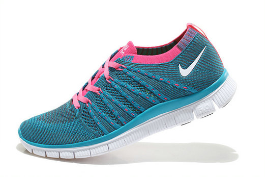 Nike Free 5.0 Flyknit Women Blue Pink White On VaporMaxRunning