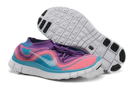 Nike Free 5.0 Flyknit Women Purple Pink Jade On VaporMaxRunning