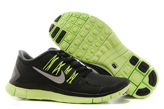 Nike Free 5.0 Mens Black Fluorescence Green Training Shoes On VaporMaxRunning