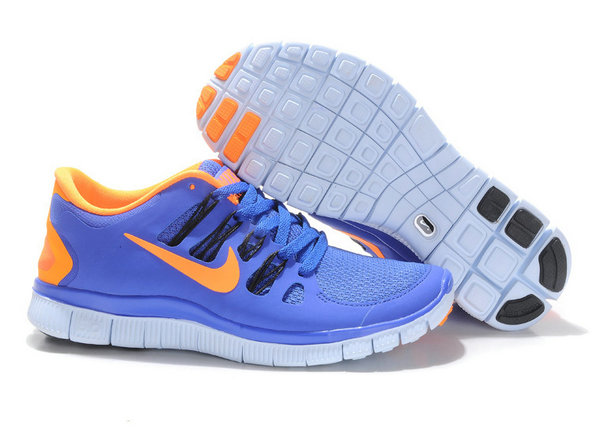 Nike Free 5.0 Mens Dark Blue Orange Training Shoes On VaporMaxRunning