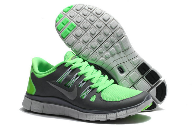 Nike Free 5.0 Mens Deep Gray Green Training Shoes On VaporMaxRunning