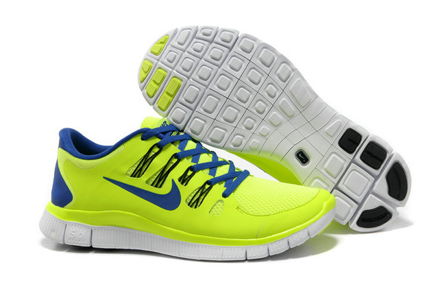 Nike Free 5.0 Mens Electric Yellow Blue Training Shoes On VaporMaxRunning