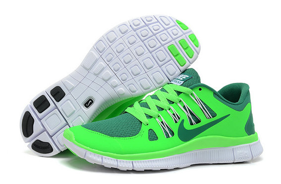 Nike Free 5.0 Mens Fluorescence Green Grass Green Training Shoes On VaporMaxRunning